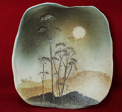 Vintage Canadian Studio Art Pottery Dish By Candian Potter Christina Mac Ewen