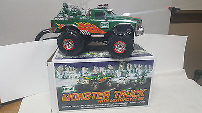 "2007 Hess ""monster Truck With Motorcycles""  New In Box !!!  Mint !!!"
