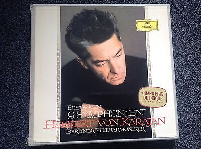 Beethoven's Nine Symphonies Von Karajan Bpo Dgg Tulip Box Set  Near Mint !