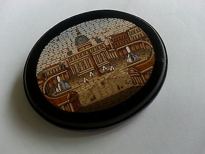 antique micro mosaic brooch