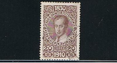 L@@K STAMPS   from  AUSTRIA  1910  FRANCIS JOSEPH  20h (Fine Used)  lot A188
