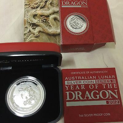 2012 australia perth mint 1oz dragon proof silver COIN