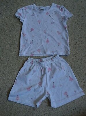 little white company short sleeved pjs size 12-18 months