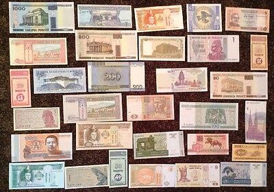 Lot Of 30 X World Banknotes. All Different. All Uncirculated.