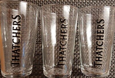 Thatchers Cider Half Pint Glass set x3 BRAND NEW