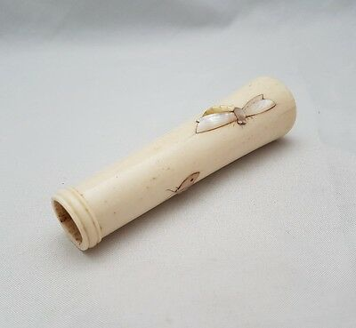 Pretty Japanese Shibayama Parasol Handle - Meiji Period