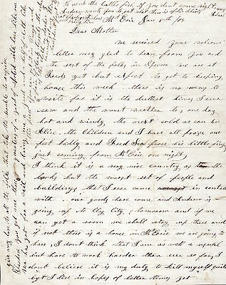 """Civil War Letter Mt. Erie IL 1865 """"FROZE FEET Fingers Badly WORST Set Of PEOPLE"""""""