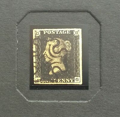 1840 PENNY BLACK STAMP with Album and certificate