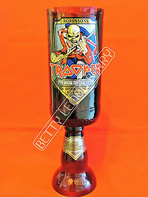 Iron Maiden Trooper (New Label!) Beer / Ale Chalice Glass Goblet -100% Recycled