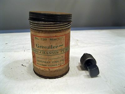 """Vintage GREENLEE 730 - 5/8"""" RADIO CHASSIS PUNCH With Canister"""