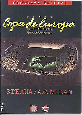 1989 European Cup Final Steaua Bucharest v AC Milan in Excellent Condition
