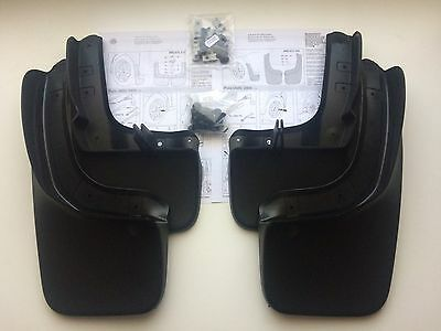 New Genuine Vw Polo 2009-2014 Front & Rear Mud Flaps Set