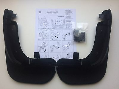 New Genuine Vw Caddy 2004-2017 Front Mud Flaps Set