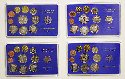 1985 Germany Proof Sets - Complete D, F, G, & J (730)