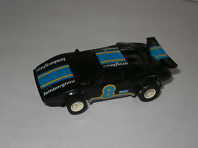 Micro Scalextric Compatable Tyco Lamborghini Countach Slot Car in Black 1/64