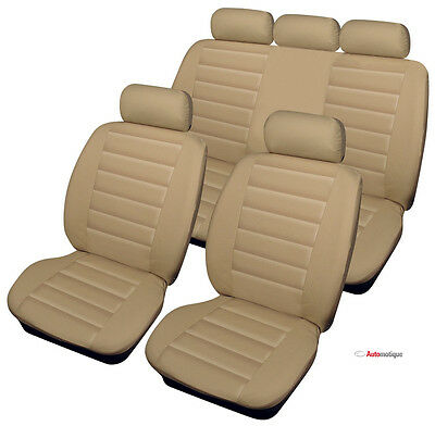 Dacia Logan  1.5 dCi Ambiance 5d 2015 BEIGE LEATHER LOOK SEAT COVERS