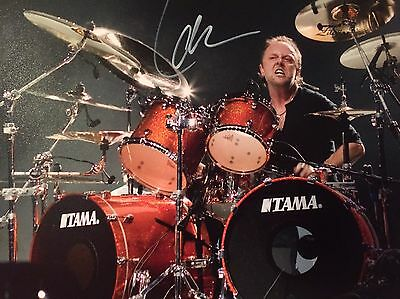 Authentic Lars Ulrich Hand signed photo 8x10 W/COA Metallica