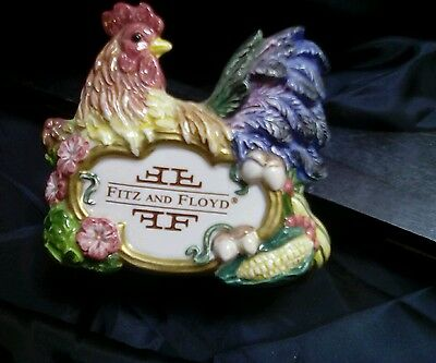 Fitz and Floyd Rooster store display