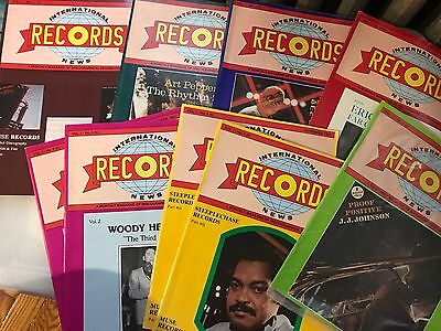 Lot of (9) International Records News Jazz Magazines 1982-83 FIRST SIX ISSUES