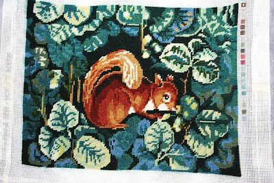 Vintage Finished Needlepoint Metropolitan Museum Art Erica Wilson Squirrel 1990
