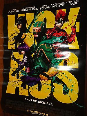 "Kick Ass Regular 1st Official Movie Theater Poster 27""x40"" 2-sided Free Shipping"