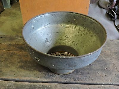Antique Galvanized Steel Milk Can Strainer, Goat/Cow, Hobby Farming, 1 of 2