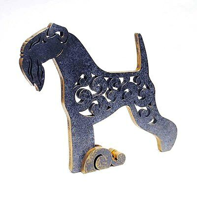 Kerry Blue Terrier figurine, statue made of wood