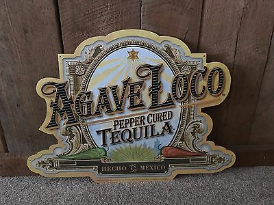 Agave Loco Pepper Cured Tequila Hecho en Mexico Metal Sign Bar Pub Man Cave