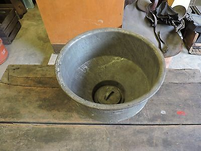 Antique Galvanized Steel Milk Can Strainer, Goat/Cow, Hobby Farming, 2 of 2