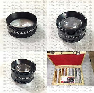 78D+90D+20D Lens+Trial Lens Set of 225 FOR OPHTHALMOLOGY AND OPTOMETRY