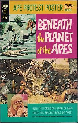Beneath the Planet of the Apes with Poster Intact! Rare 1970 Gold Key
