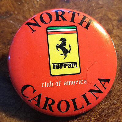 FERRARI Club of America Original North Carolina Chapter Vintage Badge