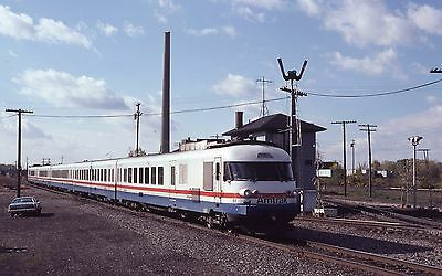 Amtrak Turbo Action Train Semaphore Kodachrome Original Slide