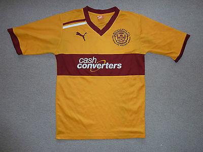 size:L Motherwell FC Football Shirt  Home Soccer Jersey 2011 Puma Scottish Top
