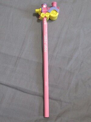 New Vintage 1990's Russ Toot Toot The Train Pink Pencil with PVC Topper