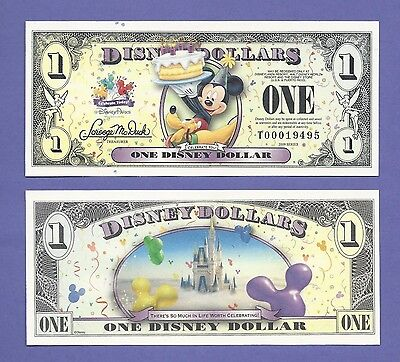 2009 $1 Disney Dollar Mickey Mouse Note T0001