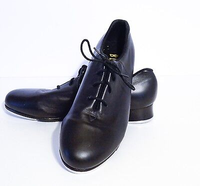 "Bloch Adult ""Respect"" Black Leather Lace Up Tap Shoes Size 10M"