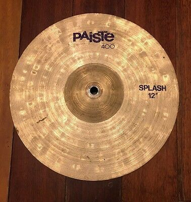 """Paiste Prototype 12"""" Splash Cymbal Made in West Germany Natural Finish"""