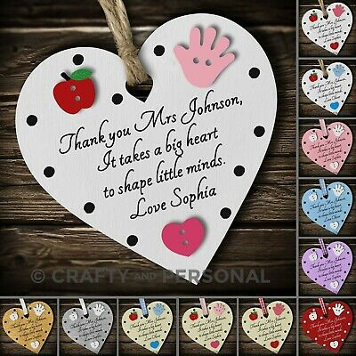 Personalised Preschool Nursery Teacher gift plaque thank you present Childminder