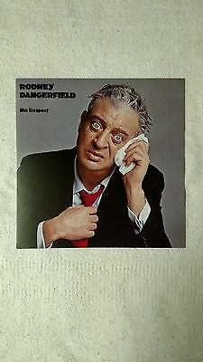 Rodney Dangerfield- No Respect  RARE promo 12 x 12 poster flat *LP cover art*