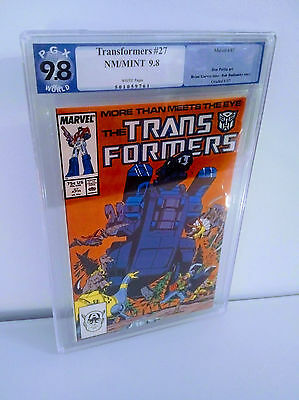 Transformers Marvel Comic #27 PGX 9.8 Graded New Trypticon 1st Appearance Beauty