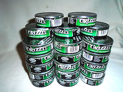 LOT OF 100 Grizzly WINTERGREEN Snuff Dip Tobacco Empty Cans Arts,Crafts,Storage