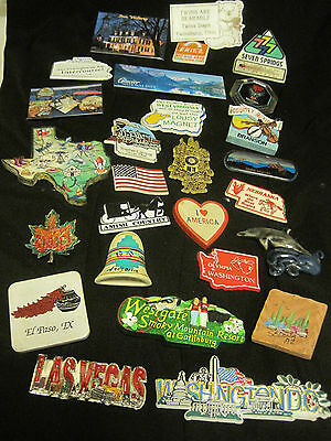 Lot of 26 Vintage  State/City/Travel/Souvenir Magnets Advertising