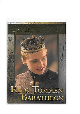 Game of Thrones Season 5 King Tommen Baratheon #72 Gold Parallel 66/150