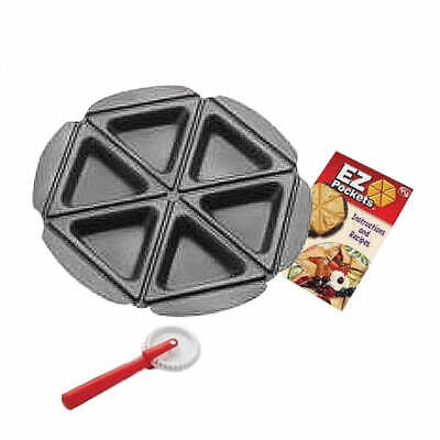 3pcs Ez Pockets Pie Pans Tools As Seen On TV Easy to Make Recipe Guide