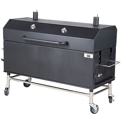 Outdoor Wood Charcoal Smoker Commercial Professional Pig Roast BBQ Beef Chicken
