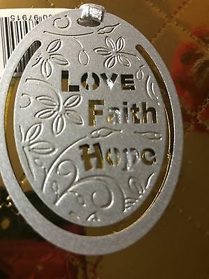 Silver Metal Book Markers - LOVE, FAITH, HOPE