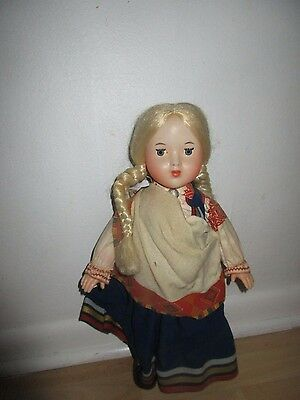"Blonde haired 18"" Vintage doll eyes open and close unbranded-"