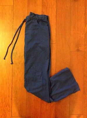 "Women's BARCO Grey's Anatomy 32"" Scrub Bottoms Pants Size Small Tall Royal Blue"