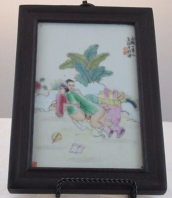 Erotic Shunga Porcelain Picture of Man & Woman  JZ-0474